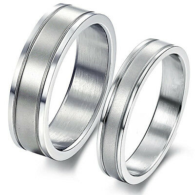 Womens/Mens Wedding Elegant Lovers Ring Proposed Marriage Band Jewelry GJ336