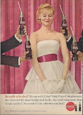 Coke Coca Cola Be Really Refreshed Vintage Ad 1960