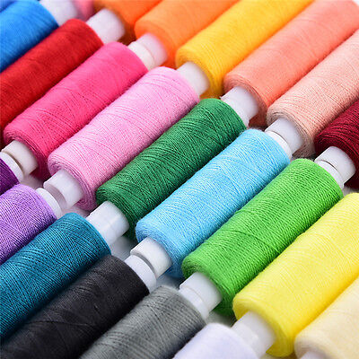 30 Assorted Colors 250 Yards Each Polyester Machine Sewing Thread  Pack of 30
