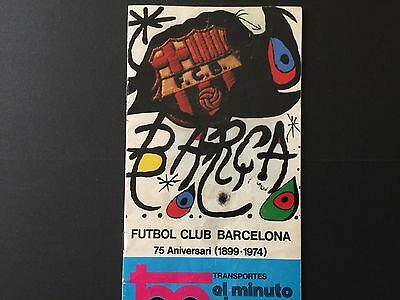 1974.Friendly. FC Barcelona- Manchester City and FC Bercelona - Selec. Alemana.