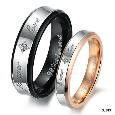 Mens/Womens Wedding Elegant Lovers Ring Proposed Marriage Band Jewelry GJ283