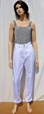 Vintage 1990s BNWT White Classic High Waisted Mom Jeans Grunge 8 10 12 14 16 18