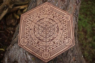 Conscious Particle - Sacred Geometry Crystal Grid - Flower of Life