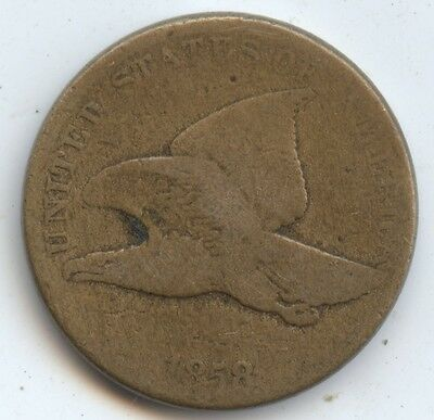 1858 Flying Eagle Cent (#7190) Good. Looks Like a LL But Diff to Tell. Carefully