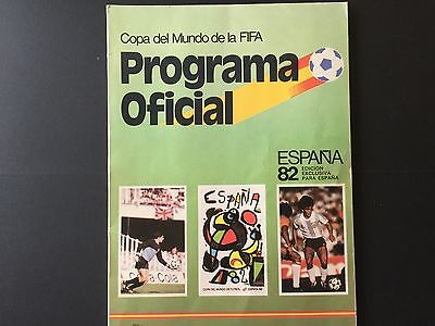Official programme World Cup Spain 82.