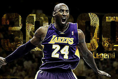KOBE BRYANT LA LAKERS BASKETBALL SPORT PHOTO POSTER PRINT STYLE G 24x36 9MIL