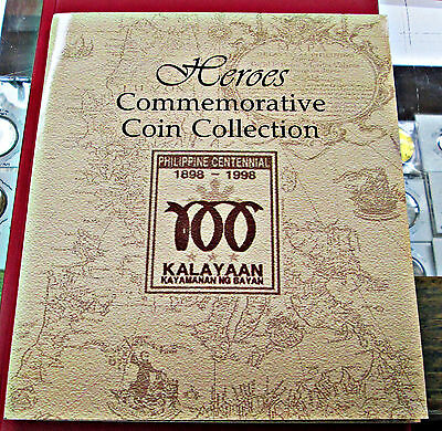 1998 Philippines 1998  Heroes Commemorative Coin Collection Set