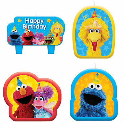 Sesame Street Birthday Party Cake Candles Pack Set Of 4 Big Bird Elmo