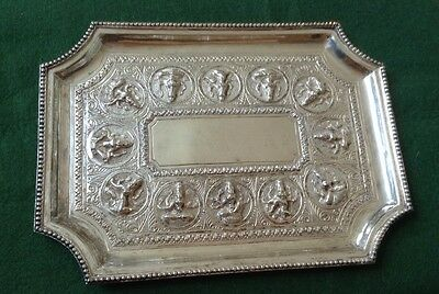 Antique  Indian / Burmese Silver Tray