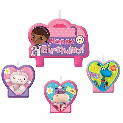 Disney Junior Doc McStuffins Birthday Party Cake Candles Pack Set Of 4