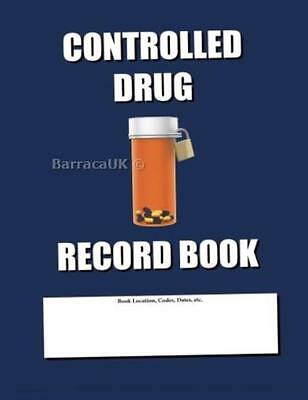NEW Controlled Drug Record Book: Blue Cover