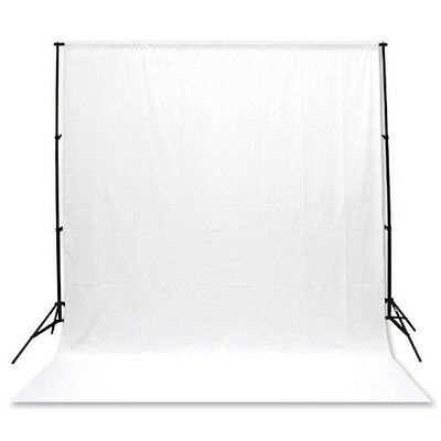 Background Backdrop 100% Cotton Muslin 3M x 6M Meter Studio Photography - White