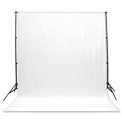 Background Backdrop ONLY 100% Cotton Muslin 3M x 6M Meter Photography - White