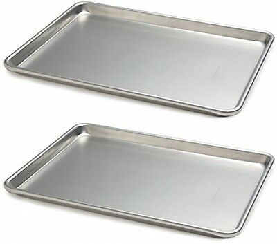 Focus Foodservice (900850) Commercial Half Size Sheet Pans, Set Of 2 (13-Inch X