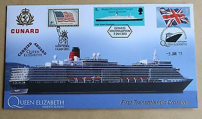 Cunard Queen Elizabeth 1St Transatlantic Crossing 2011 Buckingham Cover