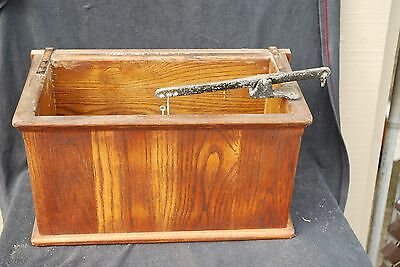 Vintage Wood Water Closet Toilet Tank Gravity Wall Mount Liner