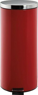 HOME 30 Litre Kitchen Pedal Bin - Red