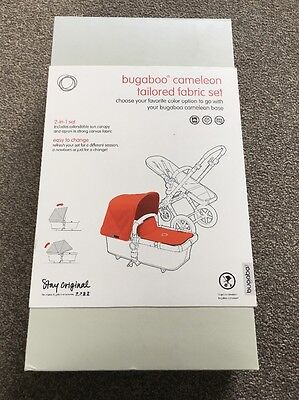 Genuine Bugaboo Cameleon Black Canvas Fabric Pack Extendable Hood Style  New