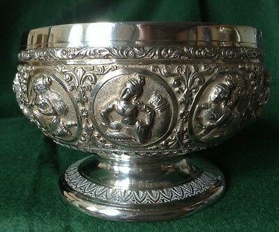 Antique Burmese Solid Silver Dish/Bowl
