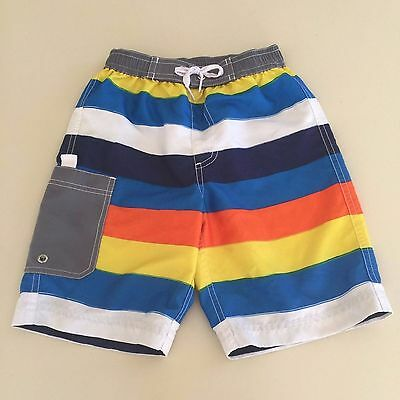 Hanna Andersson AWESOME BOYS Striped Swim Shorts. Size 5-6 years.Great!! Read