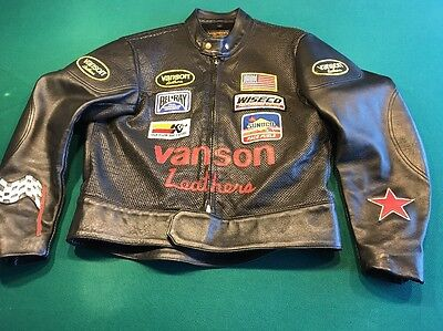 Vanson Leathers Winged Wheel Race Jacket