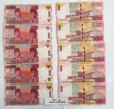 INDONESIAN RUPIAH 100,000x10 = 1 Million (1,000,000) IDR uncirculated INDONESIA
