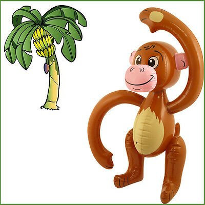 Blow-up Monkey Inflatable Kid's Party 58CM Animal Jungle Fun Fancy Dress Play