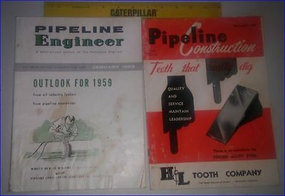 Vintage Pipeline Engineer/Construction Magazine Lot of 2 1958/59 Oil and Pipe