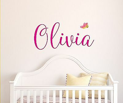 Custom Name Wall Decal Personalized Baby Girl Kids Nursery Decorative Sticker