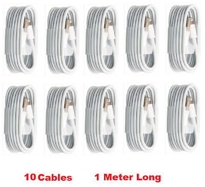 10 X 1M Sync&Charger Lightning USB Cable iPhone 7, 5, 5S, 6, 6P, iPad