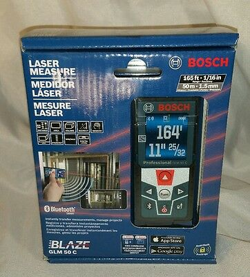 NEW BOSCH Professional GLM 50 C Bluetooth 165 Ft. Laser Distance Measure
