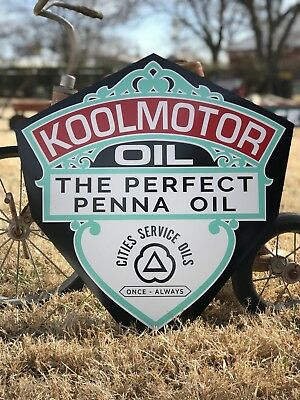 Antique Vintage Old Style Kool Motor Oil Sign
