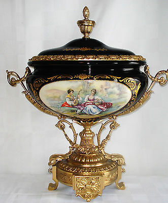 Louis Xvi Style Porcelain And Ormolu Lidded Centrepiece