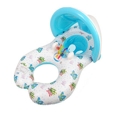 Baby Swim Ring Inflatable Ring Swim Float Circle Kid Seat With Sunshade Play Toy