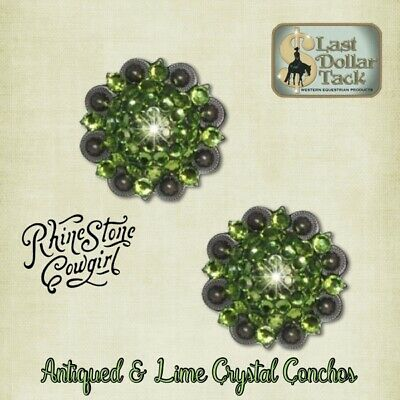 Dark Lime Cluster~Crystal Berry Concho-Replacement For Headstall Or Project~ 2Pk
