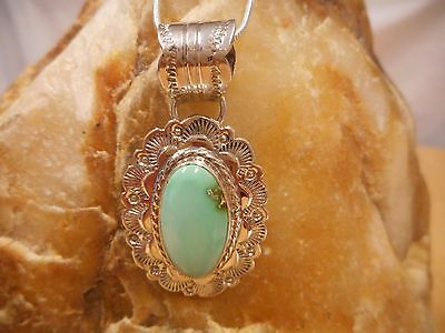Necklace Native American Sterling Silver Royston Turquoise By Navajo A Johnson