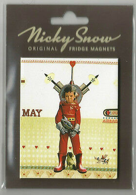 "Nicky Snow Of Bath. Collectable Fridge Magnet ""space Girl"" Great Retro Gift !!"