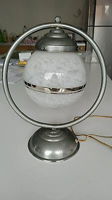 Art Deco Lampe De Bureau Chrome