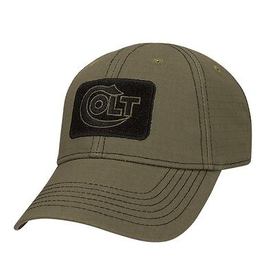 Official Colt Firearms Baseball Cap With Black Embroidered Logo Glacier