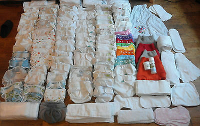 AVAILABLE ONLY UNTIL 4.5.! HUGE bundle reusable nappies and accessories!