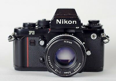 Nikon F3 35mm SLR Film Camera Body and 50mm lens