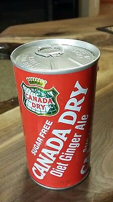 Canada dry diet sugar free ginger ale steel soda can