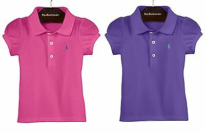 Ralph Lauren Baby Girl Short Sleeved Polo Shirt 24 M /18 M Active Pink/ Purple