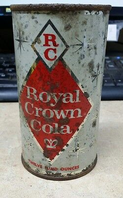 Royal Crown cola straight  steel soda can flat top