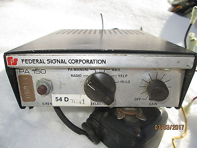 Vintage Federal Signal Pa 150 Controller Switch Control Box  With Microphone