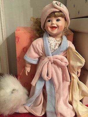 "moments treasured porcelain doll ""Darla"" with box and tag"