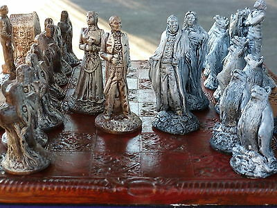 Dracula Vs Van Helsing Chess Sets: Customisable colours (pieces only)