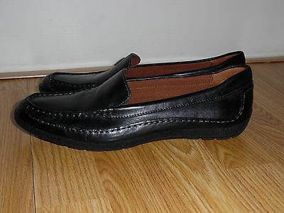 EEUC Naturalizer Black Leather Slip on Driving Loafers shoes Women's Size 10 M