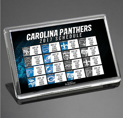 Carolina Panthers 2017 Schedule NFL Super Bowl USA JUMBO SIZE Fridge Magnet