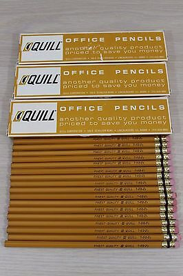 Quill T-812-2 1/2 Yellow Wood Pencil Lot 50 Pencils